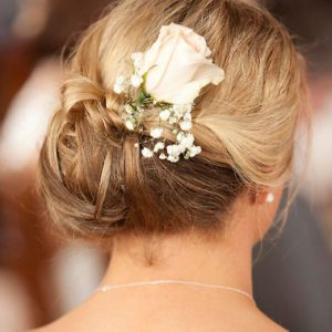 Photo of Brides hair from behind