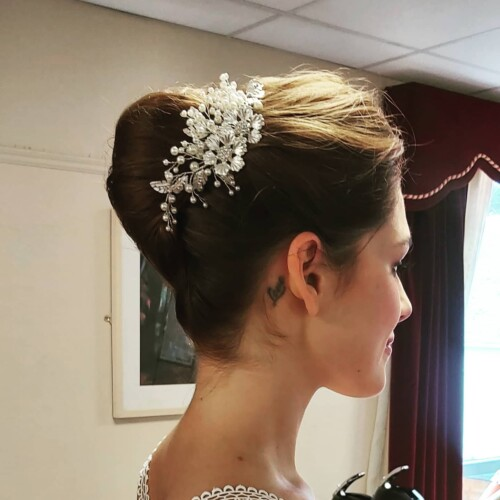 Image of Bride with Hair Up