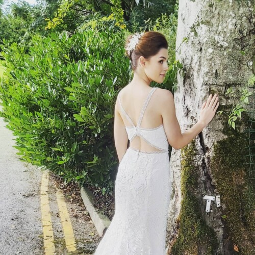 Image of Bride with Hair in Upstyles